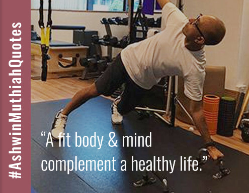 A fit body & mind complement a healthy life.