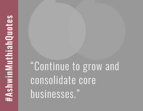 Continue to grow and consolidate core businesses.